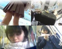 【パンチラ盗撮】BORMAN流出!通学中に何度も撮られるJKちゃん!の画像