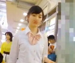 ぽるにか流出!お嬢様系女子校生のサテンパンツをGET!の画像