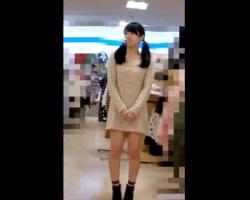 撮れ高良過ぎぃwwwロリ系ツインテショップ店員のパンツ・ブラチラ・乳首を全撮りの画像
