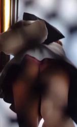 【パンチラ】街中ミニスカ女性を追跡デカ尻Tバックを隠し撮りwww【逆さ撮り・盗撮】の画像
