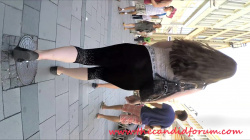 【透けパン】街中でデカ尻レギンス女性を追跡スケスケTバックパンティ隠し撮りwww【パンチラ盗撮】の画像