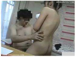 【家庭内盗撮】家庭教師の先生が勉強部屋で生徒を丸裸です!机に手をつかせて立ちバックで射精していました。の画像