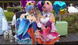 【コスプレ】ミニスカートの可愛いロリータ美少女たちです『ラム #038; レム』【AnCos Studio+台湾+コスプレイヤー】の画像