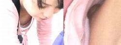 タンクトップの嬢さんの胸チラ! の画像