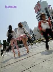 【風パンチラ画像】神風が吹いてスカートがめくれ上がる風パンチラ画像(88枚)の画像