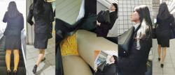 【逆さ撮りパンチラ】姿だけでもエロいOLさん達のスカートの中身を確認した逆さ撮りパンチラ画像(50枚)の画像