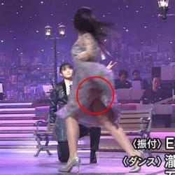STU石田千穂、「うたコン」でパンチラ丸見えハプニング!!の画像