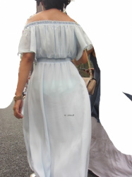【透けパンチラ】街中でおパンツ透け透け女性を発見!!スマホを構えて撮影した透けパンチラ画像(20枚)の画像
