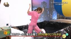 堀田茜がイッテQでずぶ濡れで透け透けの黒パンチラ晒してるの画像