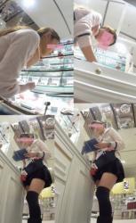 【逆さ撮り】お仕事中の女性達のスカートの中を撮影した逆さ撮りパンチラ画像の画像
