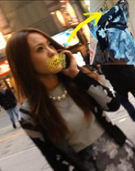パンチラ盗撮 ◆撮ってるんですか?◆ 超美人ギャルに接着盗撮バレました。。。の画像