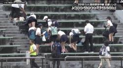 高校野球で完全にパンチラ放送事故wwwwwwの画像