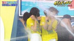 フジテレビアナ、やりすぎ放水ドッキリ、白パンツびしょ濡れ、透け透け放送事故wwwwwの画像