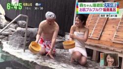 温泉Youtuberくれは(24)、地上波でおっぱい連発エロすぎ!!の画像