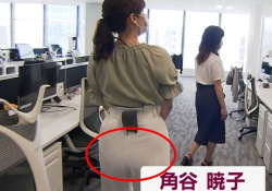 角谷暁子アナ(25)、「モーニングサテライト」でパンツ尻透け放送事故wwwwwwの画像