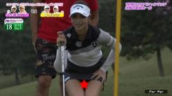女子ゴルフ柏原明日架(24)、パンチラ、ムチムチ尻連発エロすぎ!!の画像