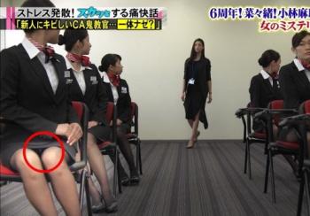 「スカッとジャパン」でCAのパンツが完全に見えてしまう放送事故wwwwwwwの画像
