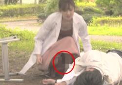 奥山かずさ(26)、ドラマでパンチラ & 胸チラハプニング!!の画像