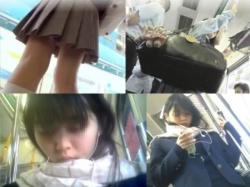 【隠撮動画】通学中のロリ美少女のJC中◯生に目を付けた危険人物が連日パンチラを隠し撮り!の画像