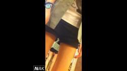 ショップ店員パンチラ編「美脚ギャル店員達の逆さ撮り#038;しゃがみ黒パンツ」の画像