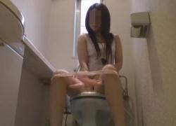 洋式トイレでお姉さん達の排泄生態やナプキン装着、アソコ拭きを正面から盗撮!の画像