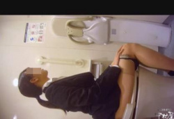 洋式トイレでスーツ就活女子の排泄から股間拭き~パンスト穿き上げまでを覗き見!の画像
