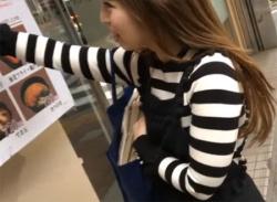 可愛いお姉さんだまして座りパンチラや後から盗撮してパンティ隠し撮りの画像