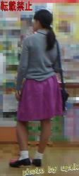 【upsk】お姉さんの逆さ撮り画像の画像