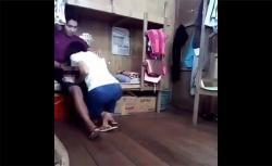【カップル盗撮動画】恐らくは大学の学生寮的な場所で交わる男女の画像