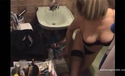 【民家風呂盗撮動画】適度に熟れた身体をしたグラマラス熟女の入浴の画像