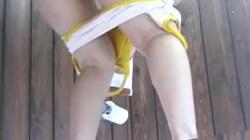 海の家の女子トイレに仕掛けられた盗撮カメラが3アングルで隠し撮りの画像