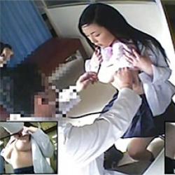 健康診断を受けに来た巨乳JKを隠しカメラで盗撮!少し照れながら制服とブラジャーをめくり上げる仕草にぐっとキますねぇwwの画像