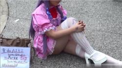 【コスプレイヤー盗撮】美少女レイヤーの幸和AIKIちゃんのムッチリ太ももを鑑賞の画像