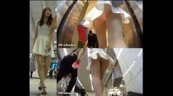 【HD-zikadori作品】FHD撮り動画 Vol.30 4人目の足が奇麗な白スカートのお姉さん【パンチラ盗撮】の画像