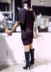 【街撮】ミニスカとブーツでピチ桃を晒してるギャルの特集 Vol.6の画像
