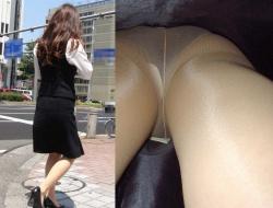 ミニスカ美女のパンツが見たいというのは男の自然の欲求なので逆さ撮りの画像