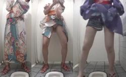 【お祭りトイレ盗撮】モロマン流出無修正。花火大会やお祭り帰りの浴衣娘達をトイレで隠し撮り。脱ぎにくい浴衣をベロんとめくりあげ和式便器に座り込む少女達。女の子の秘め事を覗き見る!【Pornhubエロ動画】の画像