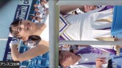 【盗撮・お尻】超可愛い女子大生のチアガールがアルプススタンドで応援してる所のプリップリのお尻を盗撮の画像