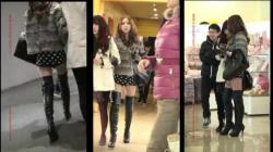 【盗撮・その他】ショートパンツにニーハイブーツを履いた美脚な中華お姉さんを付け回して盗撮。個人的には大好きwの画像