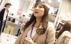 【盗撮】 ショップ店員のスカート逆さ撮り!逆さHERO 色白清楚系店員さんの食い込みパンツ!の画像