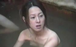 【盗撮】 露天風呂盗撮動画!貧乳なのに乳輪でかいスレンダー美女!の画像