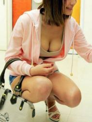 【素人胸チラ盗撮エロ画像】可愛い女性を狙って撮影…様々なおっぱいをチェック!の画像