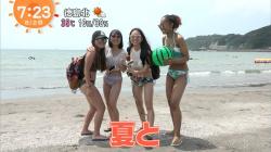 【画像あり】『めざましテレビ』ビーチにいてる美ボディな素人のビキニ水着がいっぱい拝めた件!の画像