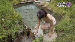 【画像あり】『珍湯たび』グラドルの祥子(34)の際どすぎる温泉入浴シーン…オッパイ谷間を見せまくりな件!の画像