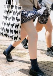 【JK美脚エロ画像】女子校生の太ももにムラッとくる日常…肉付きが良くて足フェチは大好物である!の画像