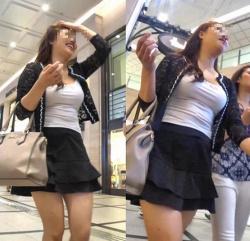 【着衣巨乳エロ画像】おっぱいがデカイ素人女性と街中で出会った時の喜びはもの凄いね!の画像