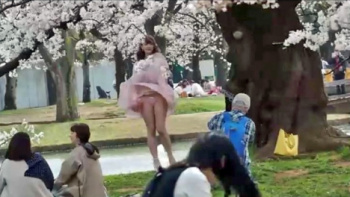 【盗 撮】お花見真っ盛り~パンチラ胸チラ春爛漫篇!!の画像
