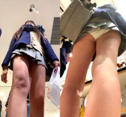 【upskirt170逆さ撮りJK】激ミニスカですべすべの足と純白Pを見せつけるかのようなギャル系JKのパンチラ動画の画像