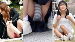 【eros1118座りパンチラ】完全に無防備な状態でのパンツがエロいしゃがみ・座りパンチラ盗撮画像9の画像