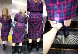 盗撮被害女性3名。デジカメ片手にエスカレーターでパンチラ手撮りする危険人物・・(動画)の画像